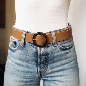 🆕Bedford Tan & Tortoise O Ring Belt